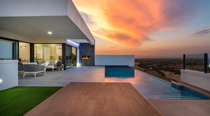 skyline II_MAIN FACHADE+POOL_ fachada principal + piscina